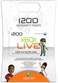 Xbox Live 1200 Points Card