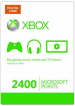 Xbox Live 2400 points Card