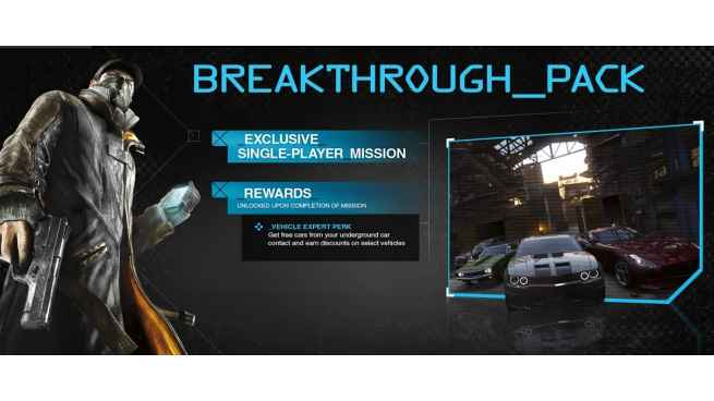 Watch Dogs Breakthrough Pack DLC Uplay cdkey